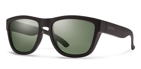 Smith Clark Matte Black Carbonic Polar Gray Green Lense Sunglasses CKPPGNMB - SURF WORLD Florida