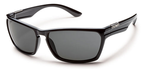 SunCloud Cutout Black Gray Polarized Sunglasses - SURF WORLD Florida