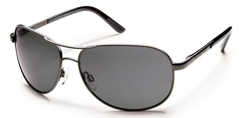 SunCloud Aviator Gunmetal Gray Polarized Sunglasses SAVPPGYGM - SURF WORLD Florida