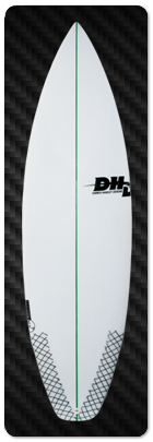"Dhd Skeleton Key Surfboard 6""2 x 20 1/4 x 2 5/8 740848 SURF WORLD"