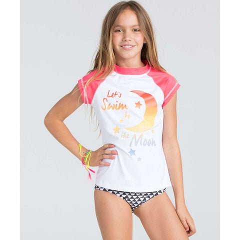 Billabong Sol Searcher SS Girls White Rashguard YR01ESOLWHT - SURF WORLD  - 2