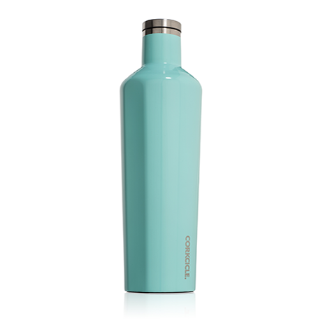 Corkcicle Canteen 25oz Gloss Turquoise - SURF WORLD Fort Lauderdale Florida