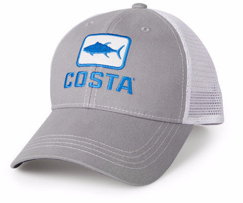 Costa Tuna Trucker Grey White Hat HA41G - SURF WORLD Florida