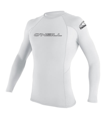 ONEILL BASIC WHITE L/S CREW MEN'S LYCRA 3342 - SURF WORLD Fort Lauderdale Florida