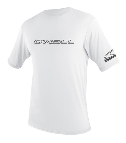 ONEILL Basic Skins SS White Rashguard Loose Fit Tee - SURF WORLD  - 1
