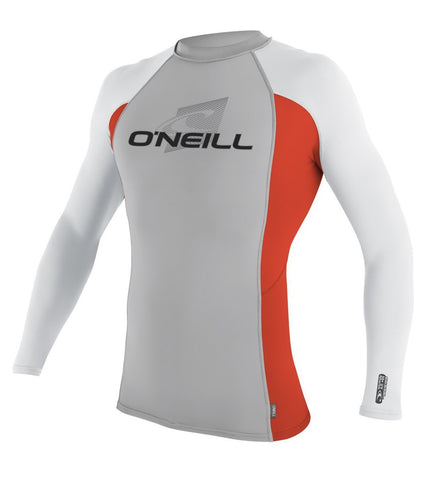 ONEILL SKINS L/S CREW NEON RED LYCRA - SURF WORLD  - 1