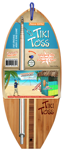 Tiki Toss Deluxe Ring Toss Game with Telescoping Pole - SURF WORLD Florida