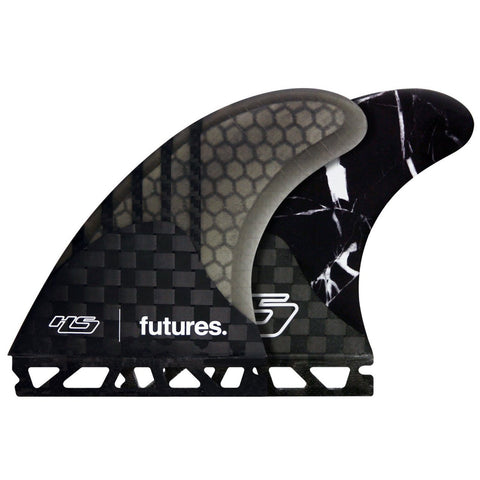 Futures HS1 Generation Series Black Marble Large Thruster Surfboard Fins 2487456 - SURF WORLD Fort Lauderdale Florida