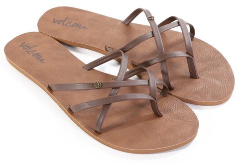 Volcom New School Brown Womens Sandal W0811550BRN - SURF WORLD Florida