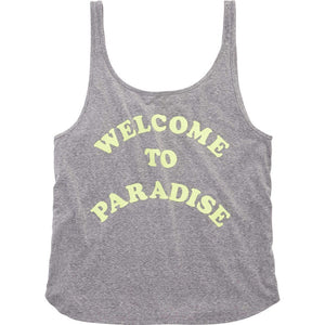 Billabong Welcome To Paradise Athletic Grey Tank Top J412FWELDAG SURF WORLD