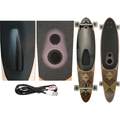 Globe Pinner Bluetooth Skateboard Dark Maple Speaker System 41.25 x 9 - SURF WORLD Florida