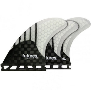 Future Fins V2 F6 Generation Series 5 Fin Set Clear w/ Carbon Fiber SURF WORLD