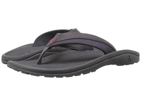 Olukai Men's Ohana Koa Carbon Carbon Sandal - SURF WORLD Fort Lauderdale Florida