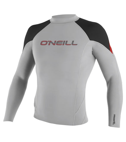 Oneill Men's hammer Light Grey Wet suit Top 4177CJ4 - SURF WORLD