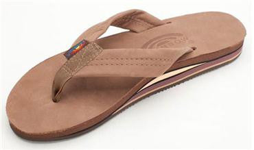 Rainbow Sandals Women's Premier Leather Double Layer Arch - Dark Brown - SURF WORLD Fort Lauderdale Florida