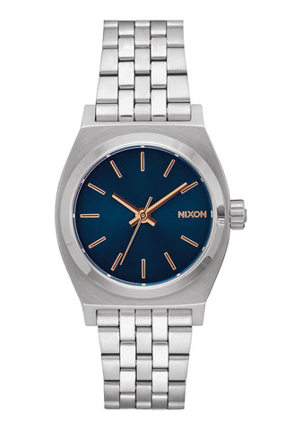 Nixon Medium Time Teller Navy Rose Gold Watch - SURF WORLD Florida
