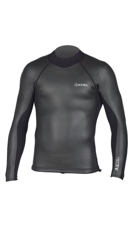 Xcel 2/1 mm Smooth Back Zip Long Sleeve Wetsuit Top - SURF WORLD