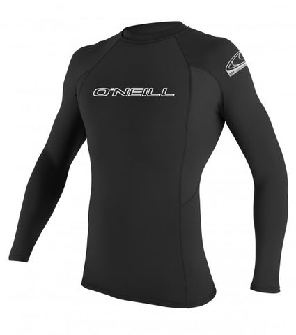 Oneill Basic Skins L/S Black Crew Rashgurd - SURF WORLD Florida