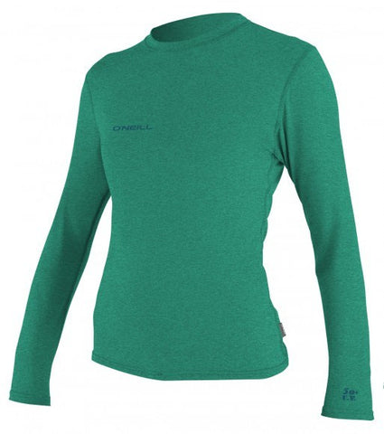 Oneill Women's Hybrid L/S Rashguard Tee Green - SURF WORLD Florida