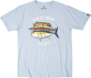 Salty Crew Voyager SS Mens T Shirt - Light Blue