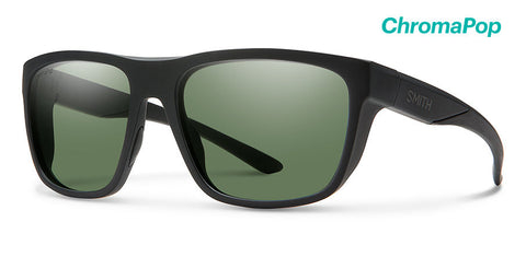 Smith Barra Chroma Pop Polarized Grey Green Sunglasses  - Matte Black