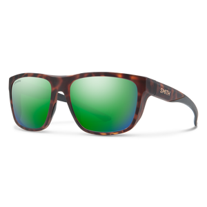 Smith Barra Matte Tortoise ChromaPop Polarized Green Mirror Sunglasses