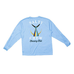 Salty Crew Tailed Tech Tee L/S - Cyan SURF WORLD