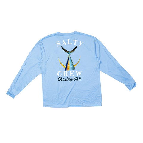 Salty Crew Tailed Tech Tee L/S - Cyan