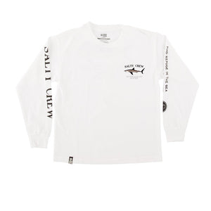 Salty Crew Bruce Boys LS Tech Tee - White