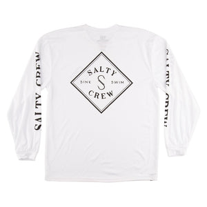 Salty Crew Tippet Tech Tee L/S - White SURF WORLD