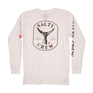Salty Crew Fishstone Tech White Long Sleeve