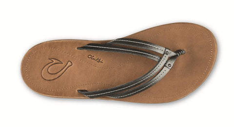 1a822499eab7 Olukai U I Women s Leather Sandals Pewter Sahara Flip Flops - SURF WORLD  Fort Lauderdale