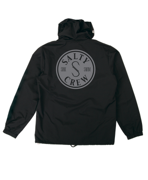 Salty Crew Topwater Snap Jacket - Black SURF WORLD