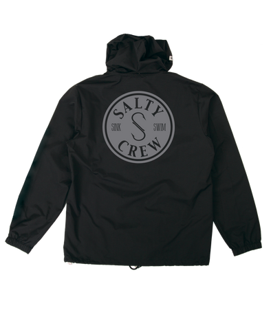 Salty Crew Topwater Snap Jacket - Black
