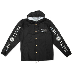 Salty Crew Navigator Snap Jacket - Black SURF WORLD