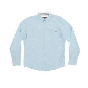 Salty Crew Market L/S Tech Woven - Dusty Blue SURF WORLD