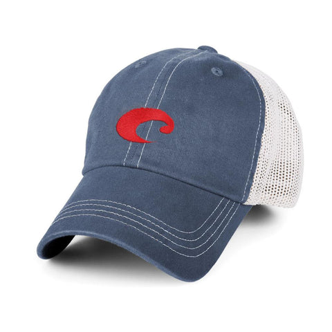 Costa Mesh Trucker Hat in Slate Blue - SURF WORLD Fort Lauderdale Florida