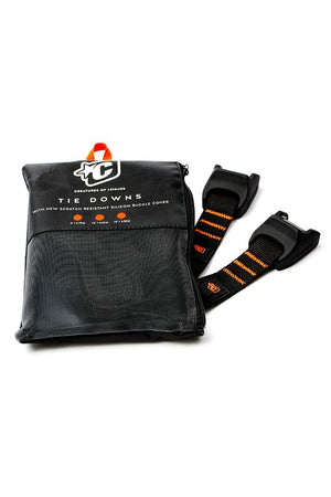 Creatures Tie Downs Silcon- Black Orange 12' or 15' SURF WORLD