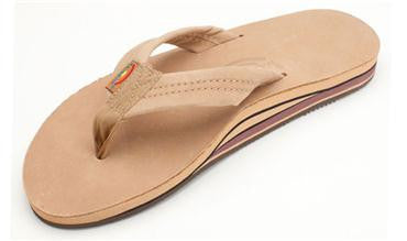 Rainbow Sandals Premier Leather Men's Double Layer w/ Arch  - Sierra Brown - SURF WORLD Fort Lauderdale Florida