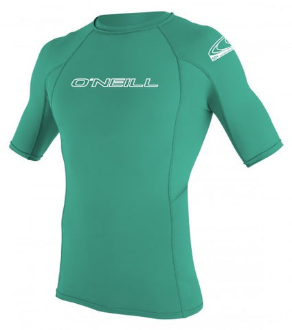 Oneill Youth Basic Skins S/S Crew Rashguard - Seaglass - SURF WORLD Fort Lauderdale Florida