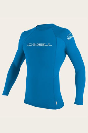 Oneill YOUTH BASIC SKINS Rashguard  L/S CREW 3346 UPF 50+ - Brite Blue SURF WORLD