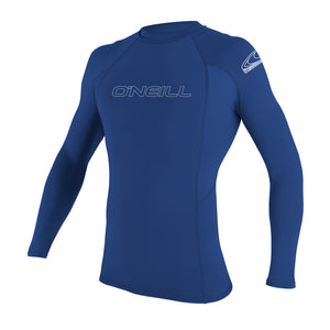Oneill YOUTH BASIC SKINS Rashguard  L/S CREW 3346 UPF 50+ - Pacific Blue