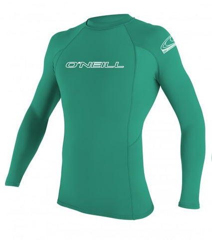 Oneill Youth Basic Skins L/S Crew- Seaglass - SURF WORLD Florida