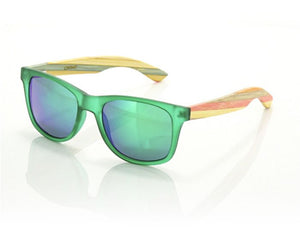 Carve Bronte Sunglasses Matte Green / Bamboo SURF WORLD