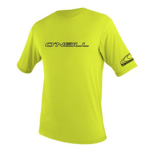 Oneill Youth Basic Rash Tee - Lime SURF WORLD