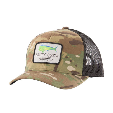Salty Crew Mahi Mount Retro Trucker Hat - Multi Camo