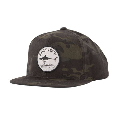 Salty Crew Bruce 6 Panel Mens Hat - Multicam Black