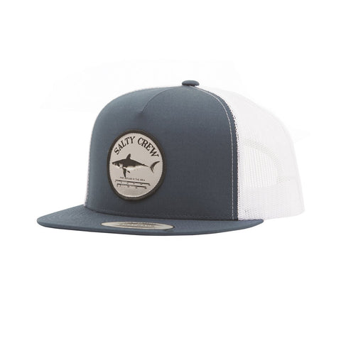 "Salty Crew Bruce ""The Shark"" Trucker Hat - Navy White"