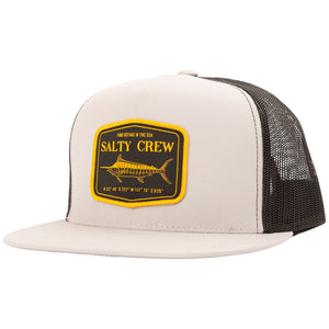 Salty Crew Stealth Trucker Hat - Silver Black