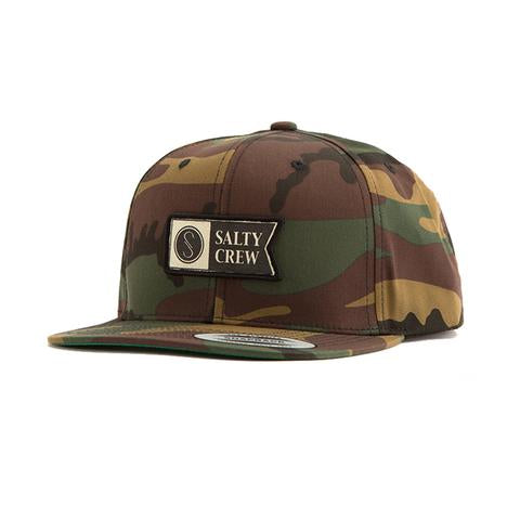 Salty Crew Alpha Stamped 6 Panel Hat Camo